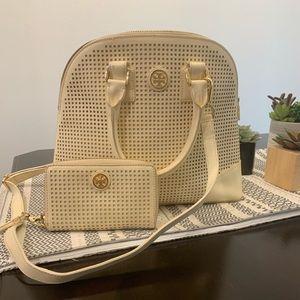 Tory Burch handbag and matching wallet